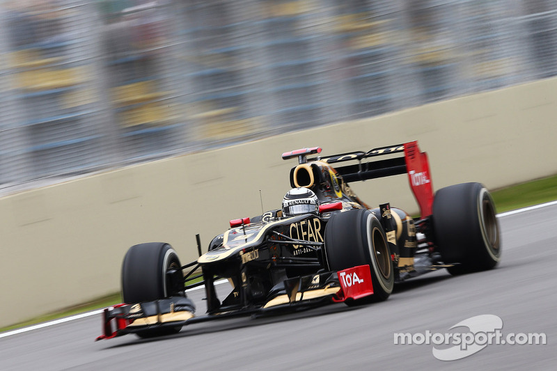 Raikkonen finished in tenth place and Grosjean exited the race in São Paulo