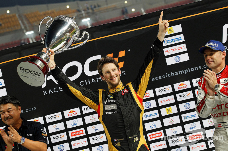 Lotus proud of Grosjean's victory in 2012 Race of Champions held in Thailand