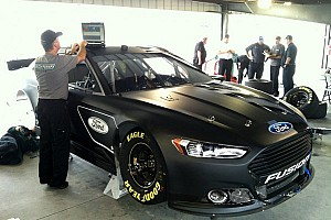 NASCAR Sprint Cup Breaking news Ford teams stay busy shaking down new Fusion - video