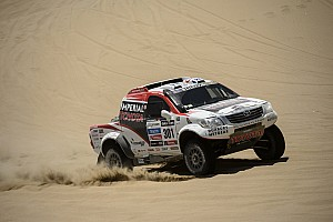 Dakar Stage report Toytoa driver de Villiers has setback in stage 3