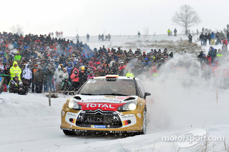 Loeb and Elena on top of the podium in the 'Monte' for the seventh time