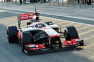 Button took the wheel for the first track run of the new MP4-28