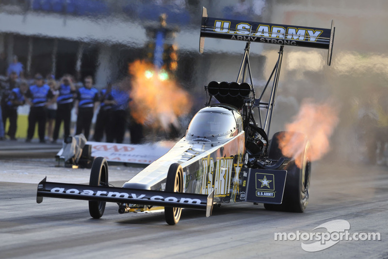 Schumacher and Beckman hold provisional poles in NHRA Winternationals at Pomona