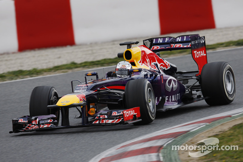 After a slow start, Vettel ran quickest on day 1 at Barcelona