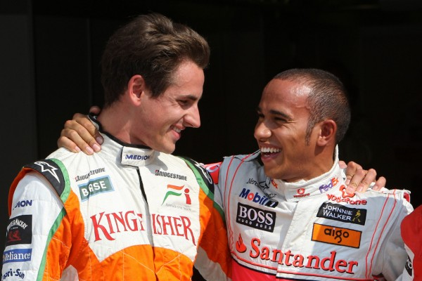 Former friends Hamilton, Sutil to meet
