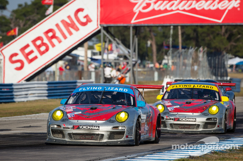 Flying Lizard Finishes 2nd and 9th in Season Opener in Sebring
