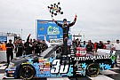 Larson dominates, holds off late charge to claim first series win at the Rockingham Speedway
