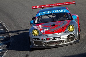 ALMS Race report Flying Lizard Motorsports finishes 8th and 9th in challenging Monterey race