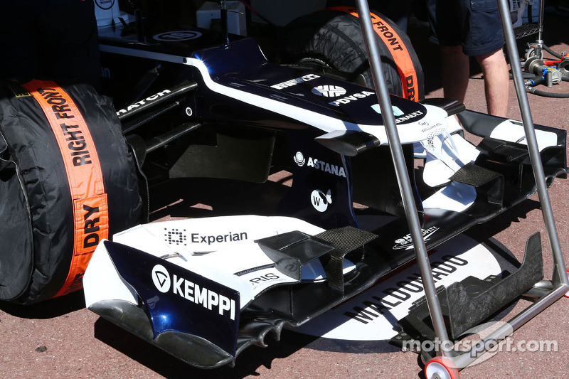 Williams reverts to 2012 nose, wing in Monaco