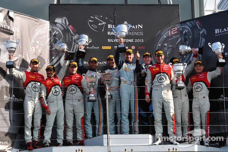 Two BES podium finishes for the Belgian Audi Club Team WRT at Silverstone