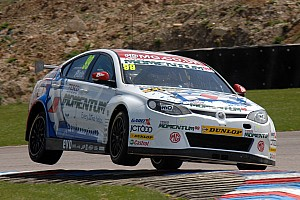 BTCC Race report Jason Plato on fire at Oulton Park!