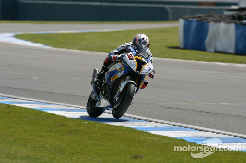 BMW Motorrad's Melandri celebrated victory at Portimão