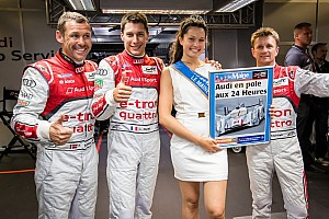 Le Mans Qualifying report Audi locks out the front row!