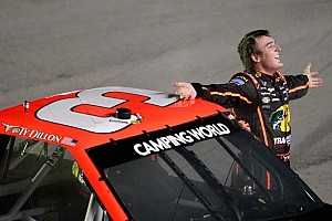 NASCAR Truck Race report Dillon gets by Cup regulars for the win in Kentucky 225
