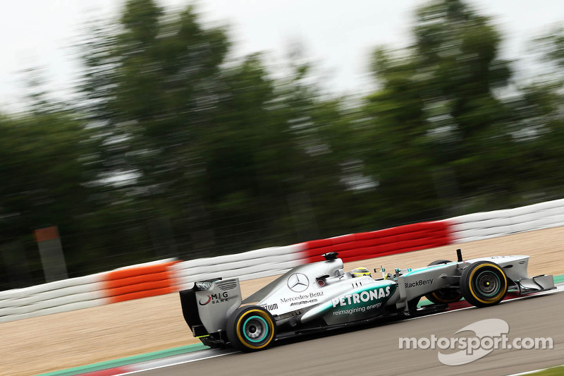 Rosberg and Hamilton finished in 2nd and 8th on Friday practice for the German GP