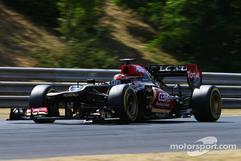 Lotus' Grosjean set the third fastest time on Friday practice for the Hungarian GP