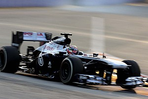 Bottas qualified 16th with Maldonado 18th for tomorrow's Singapore GP