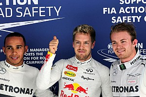 Rosberg and Hamilton qualified in 2nd and 3rd places for the Indian GP