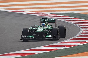 Caterham drivers on qualifying round at India