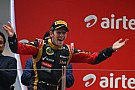 Podium for Lotus by Romain Grosjean at India