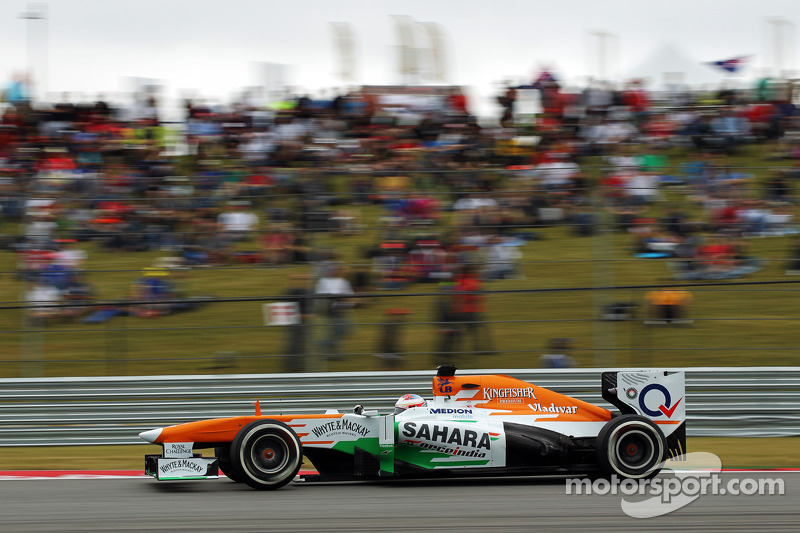 Qualifying at COTA saw Sahara Force India's Di Resta qualify in P12