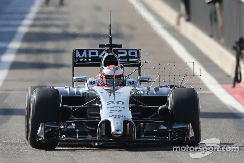 McLaren's Magnussen set the best time of the day at Bahrain