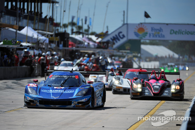 Team Chevy Corvette DP's head to Long Beach