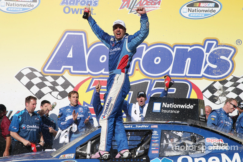 Sadler survives late-race carnage to win at Talladega