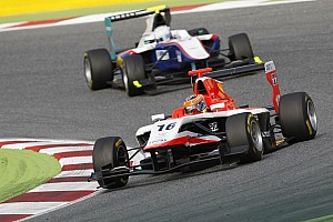 GP3 Race report Stoneman holds off Tuscher to win Barcelona race 2
