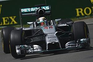 Hamilton leads Rosberg in FP2