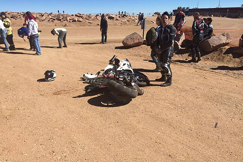 Pikes Peak rider killed when his Triumph crashes after taking the checkered flag