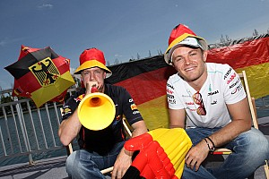 Rosberg showing his support for Germany in this weekend's Grand Prix