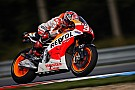 Marquez fastest on rain affected day one at Brno