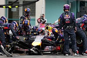 Red Bull using electric engine for pitstop practice