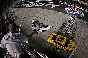 NASCAR Sprint Cup Race report Logano nabs third win of the season in Bristol night race