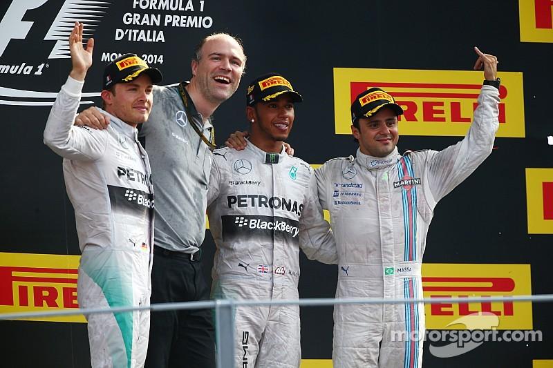 Hamilton capitalizes on mistake by Rosberg to win the Italian GP