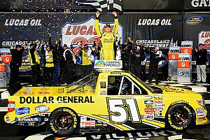 NASCAR Truck Race report Kyle Busch takes dominating Truck win at Chicagoland