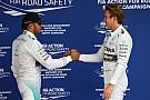 Rosberg edges Hamilton for Brazil pole