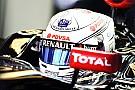 No Total logo on 2015 Lotus - Grosjean