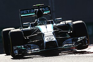 An eighth consecutive Mercedes front row lockout at Yas Marina