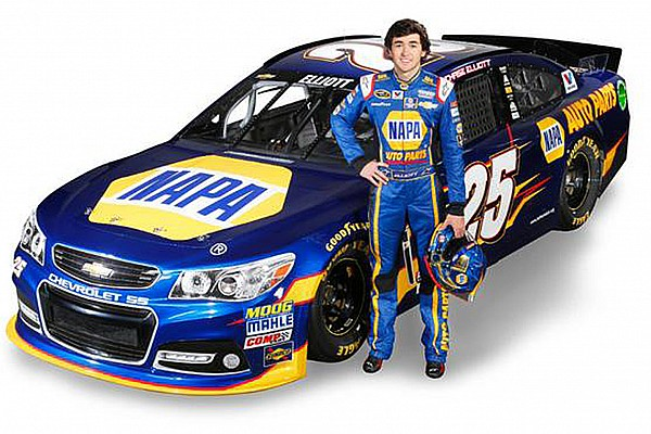 Chase Elliott's first Sprint Cup car revealed