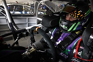 Denny Hamlin triggers four-car pile up at Atlanta - video