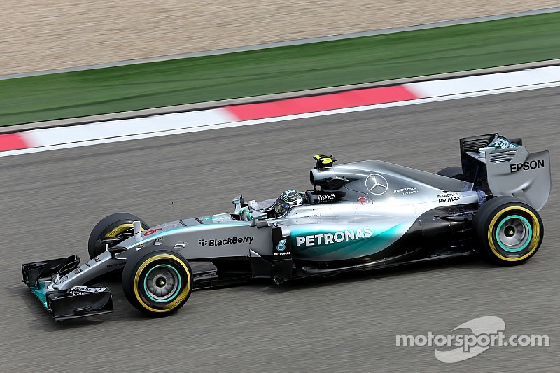Battle resumes at the Shanghai and Mercedes top the times on the opening day
