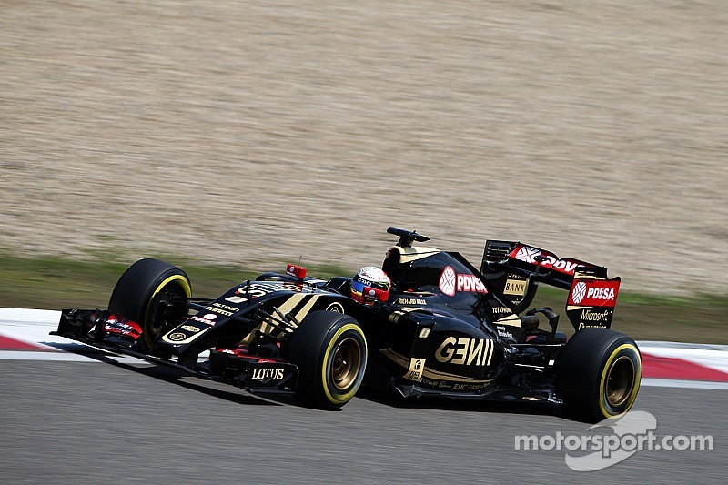 Lotus shows progress with Grosjean qualifying in 8th at Shanghai