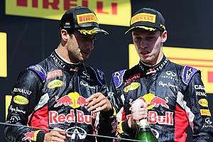 First podium for Kvyat in Red Bull 2-3 at Hungaroring