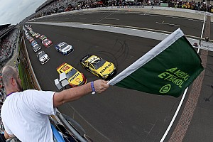 NASCAR Sprint Cup Breaking news Indianapolis aero package falls short of expectations