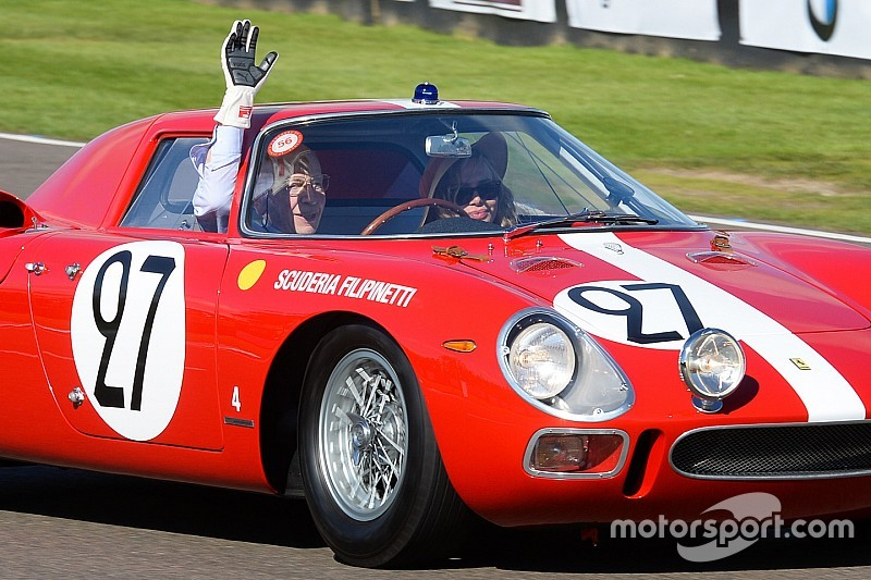 John Surtees on track at the 2015 Goodwood Revival meeting