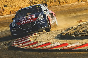 World Rallycross Race report Timmy Hansen leads inaugural Barcelona RX