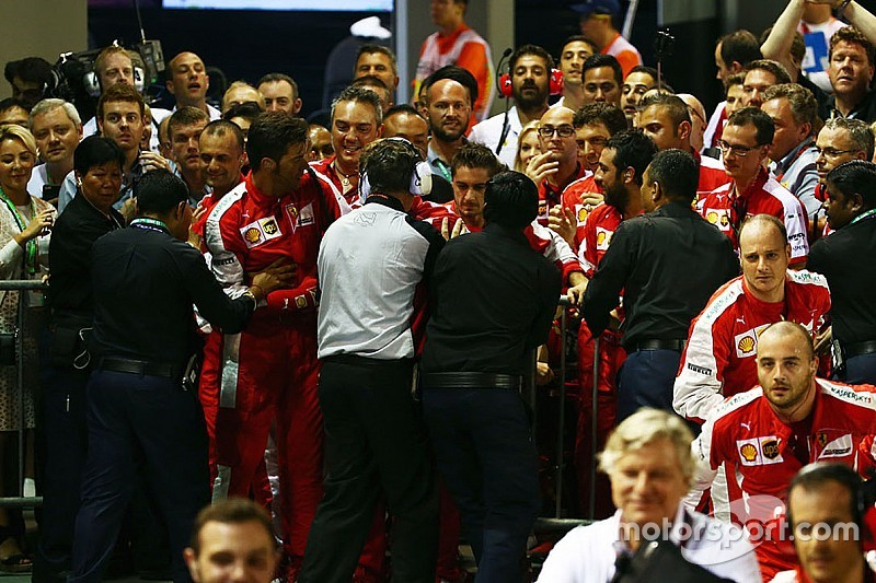 Ferrari asked to apologise for parc ferme incident