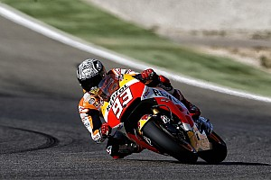 MotoGP Qualifying report Marquez takes record breaking pole in Aragon with Pedrosa on second row